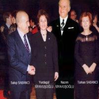Nazım Yurdagül Siyavuşoğlu ile Sakıp Türkan Sabancı çiftleri