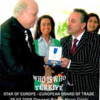 Nazım Siyavuşoğlu onursal nişanı
