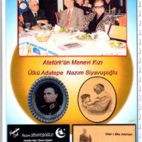 Nazım Siyavuşoğlu Atatürkün Manevi Kızı Ülkü Adatepe ile Yemekteler.