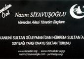 Nazım Siyavuşoğlu Hanedan Ailesi Yönetim Başkanı