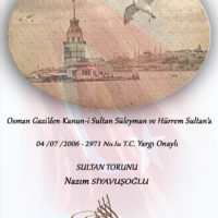 Nazım Siyavuşoğlu T.C. Yargı Onayı