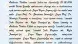 Rodos ; Nazım Siyavuşoğlu'na Teşekkür Mektubu